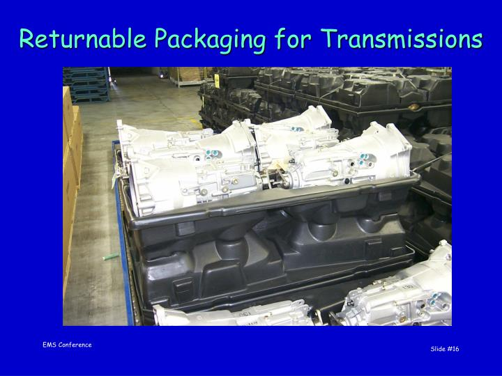 Returnable Packaging for Transmissions