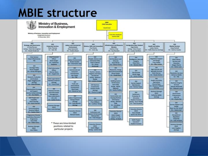 MBIE structure