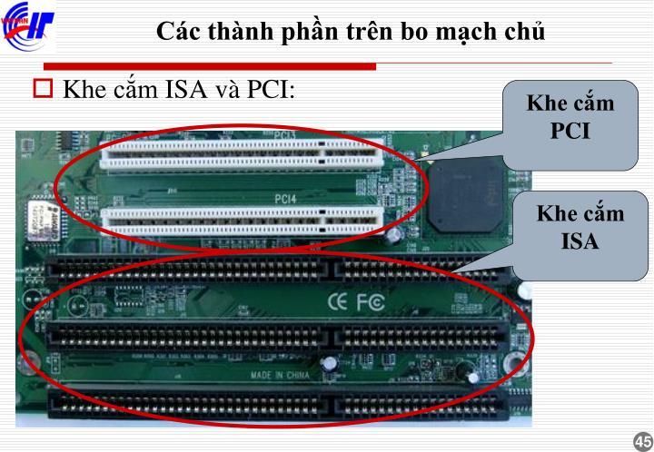 Khe cắm PCI