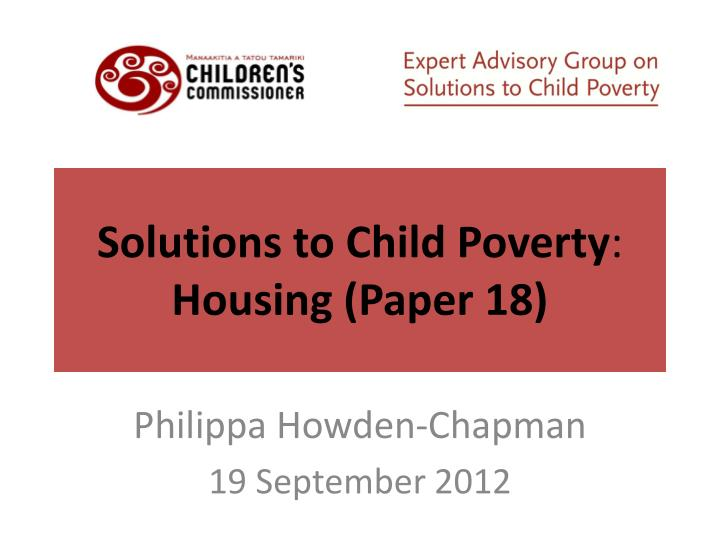 Solutions to Child Poverty