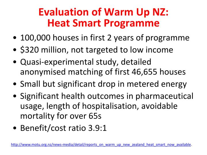 Evaluation of Warm
