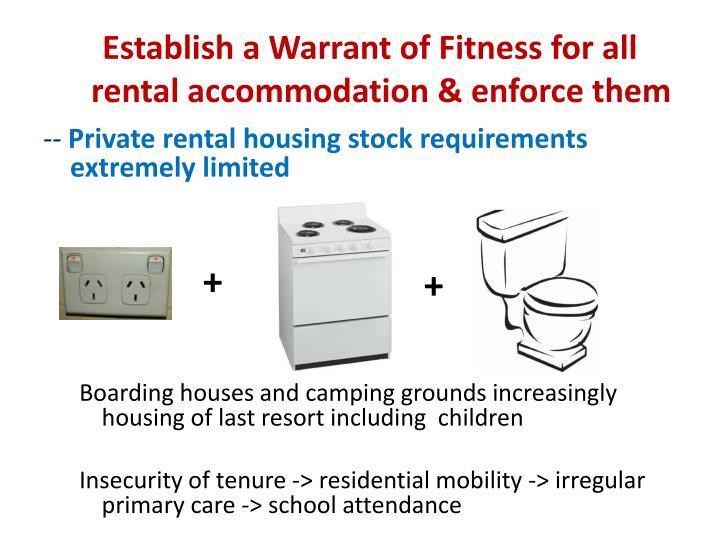Establish a Warrant of