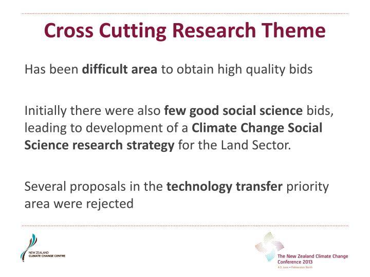 Cross Cutting Research Theme