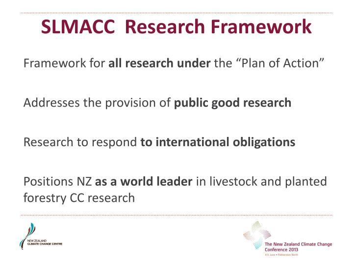 SLMACC  Research Framework