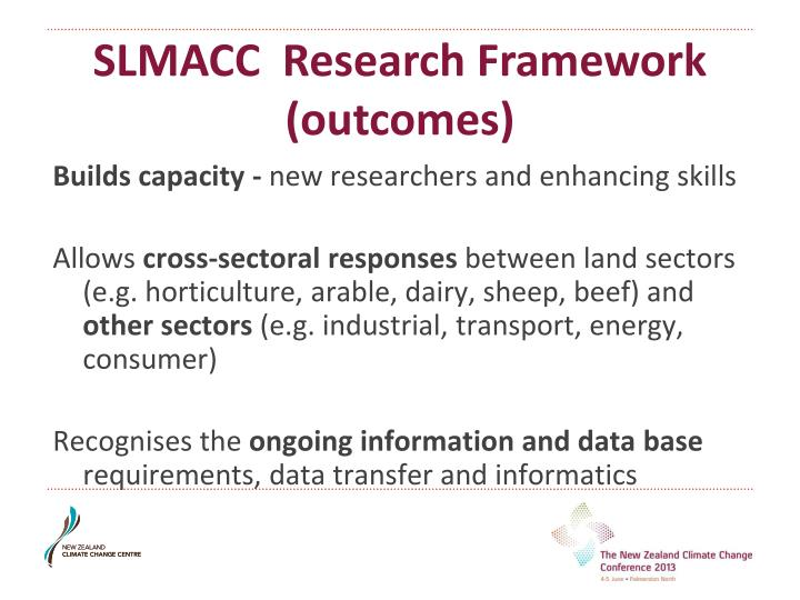 SLMACC  Research Framework (outcomes)