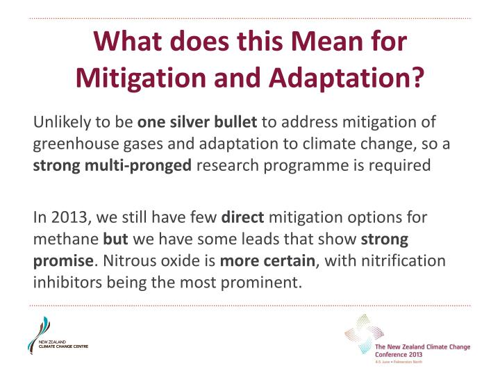 What does this Mean for Mitigation and Adaptation?