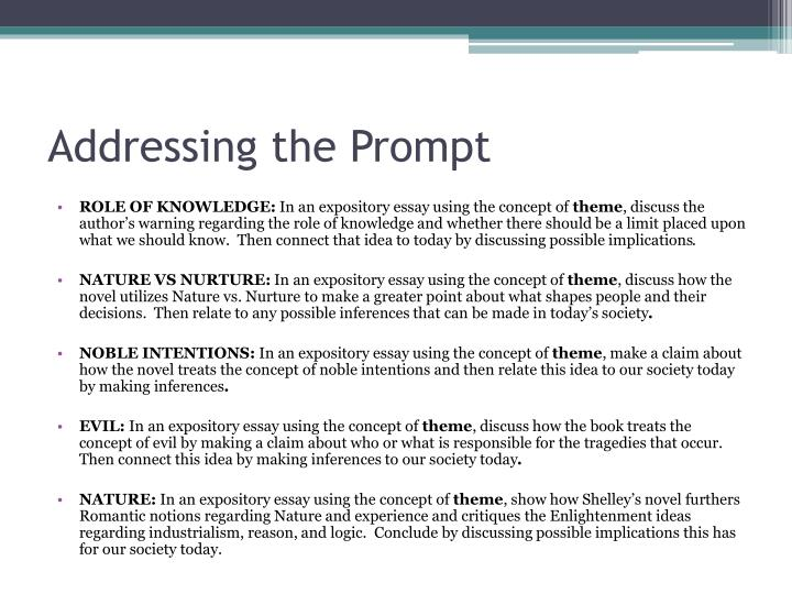 Addressing the Prompt