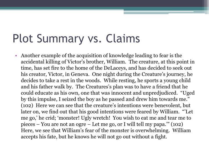 Plot Summary vs. Claims