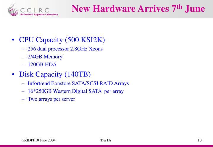 New Hardware Arrives 7