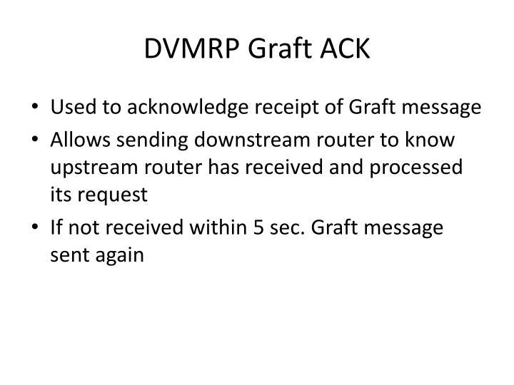DVMRP Graft ACK