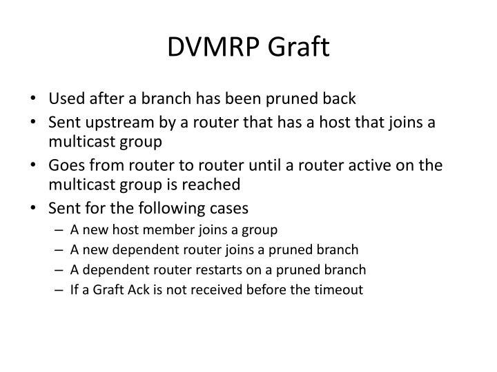DVMRP Graft