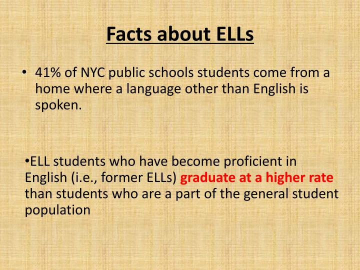 Facts about ELLs