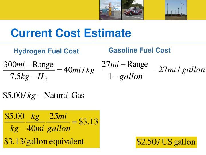 Current Cost Estimate