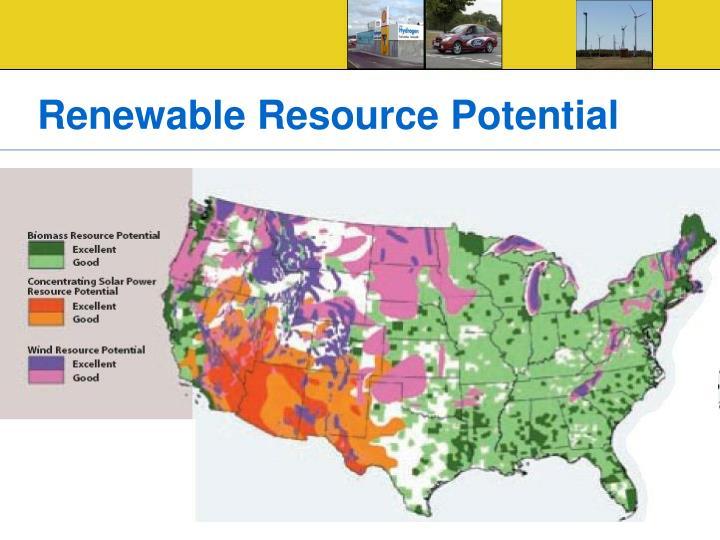 Renewable Resource Potential