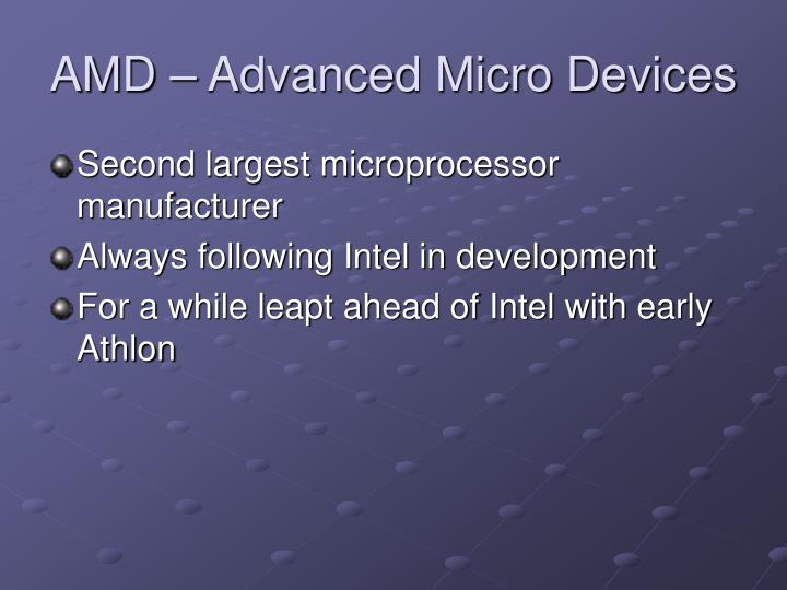 AMD – Advanced Micro Devices