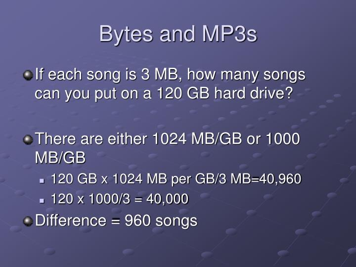 Bytes and MP3s