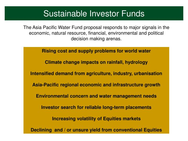 Sustainable Investor Funds