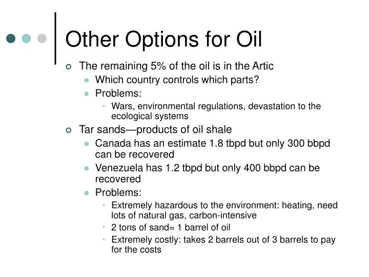 Other Options for Oil
