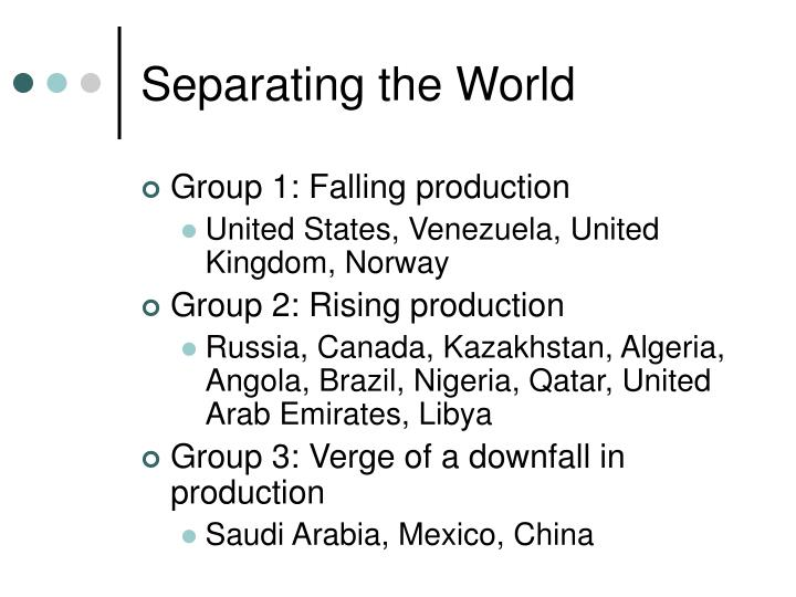 Separating the World