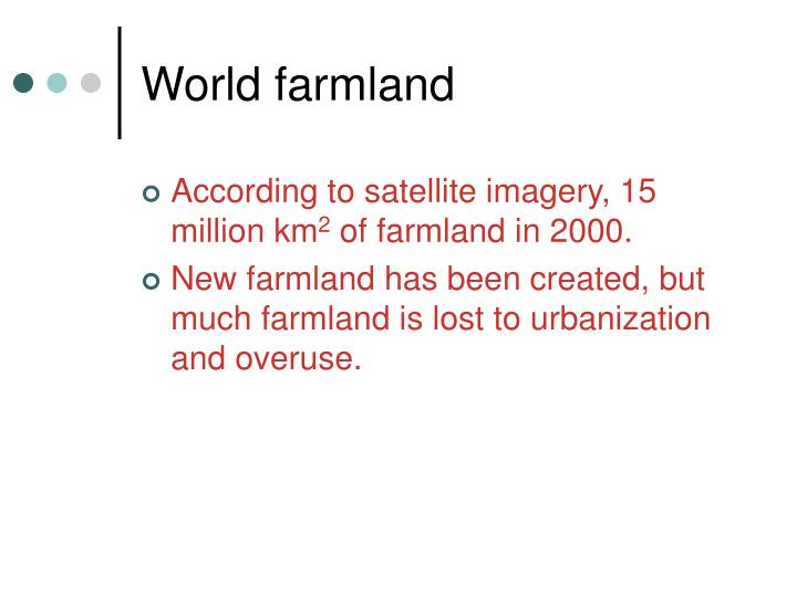 World farmland