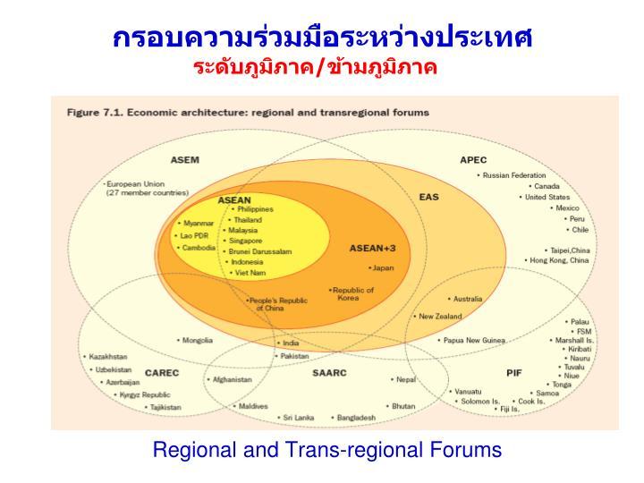 Regional and Trans-regional Forums