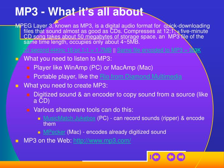 MP3 - What it's all about