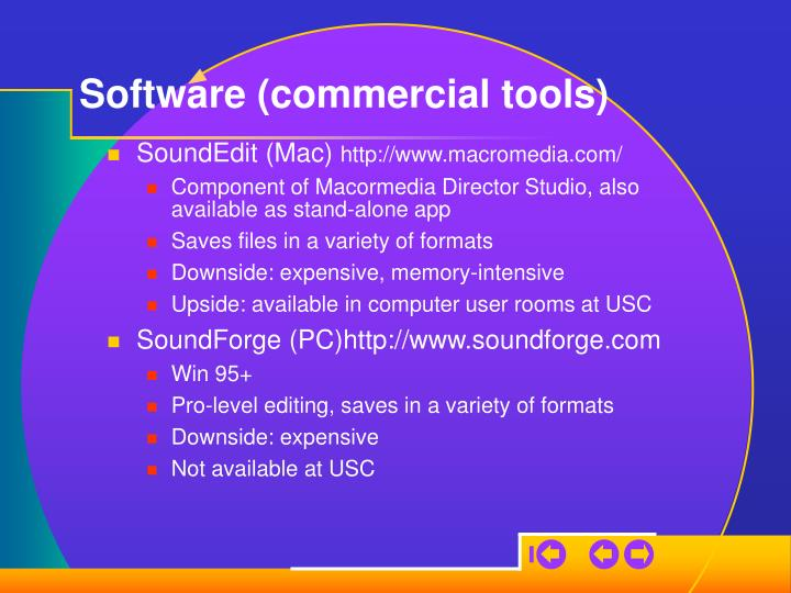 Software (commercial tools)