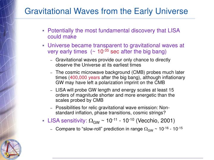 Gravitational Waves from the Early Universe