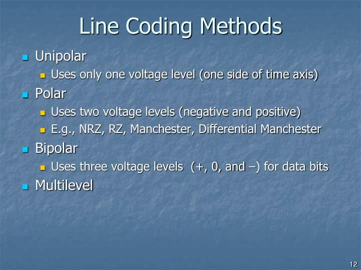 Line Coding Methods
