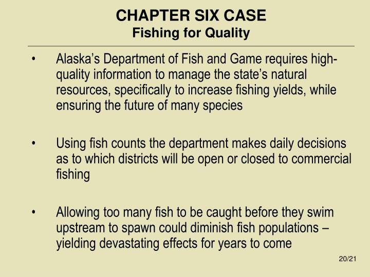 CHAPTER SIX CASE