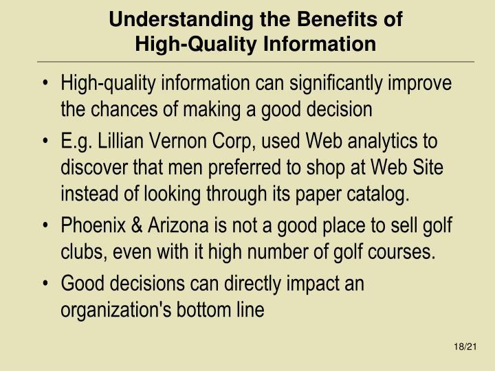 Understanding the Benefits of