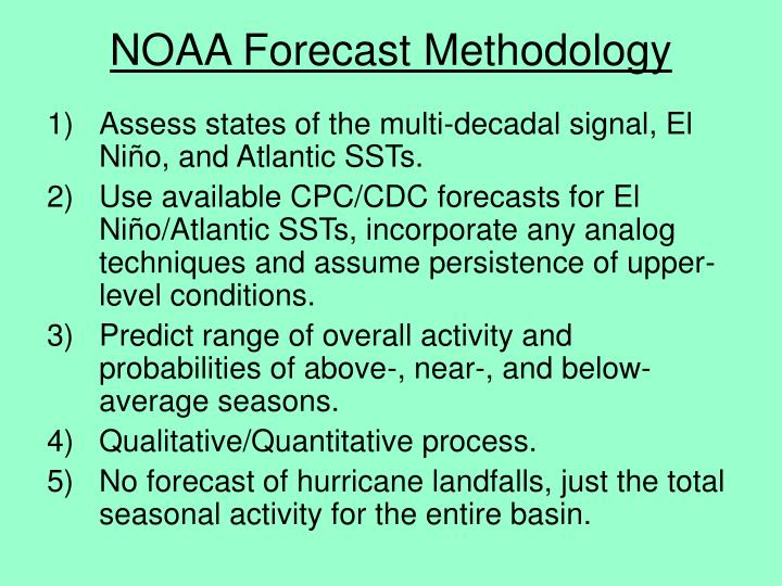 Noaa forecast methodology