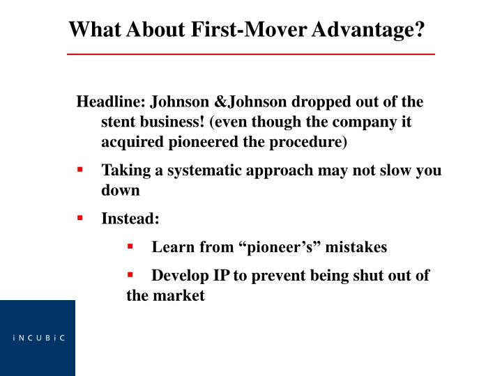 Headline: Johnson &Johnson dropped out of the stent business! (even though the company it acquired pioneered the procedure)