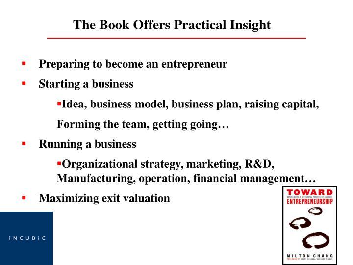 Preparing to become an entrepreneur
