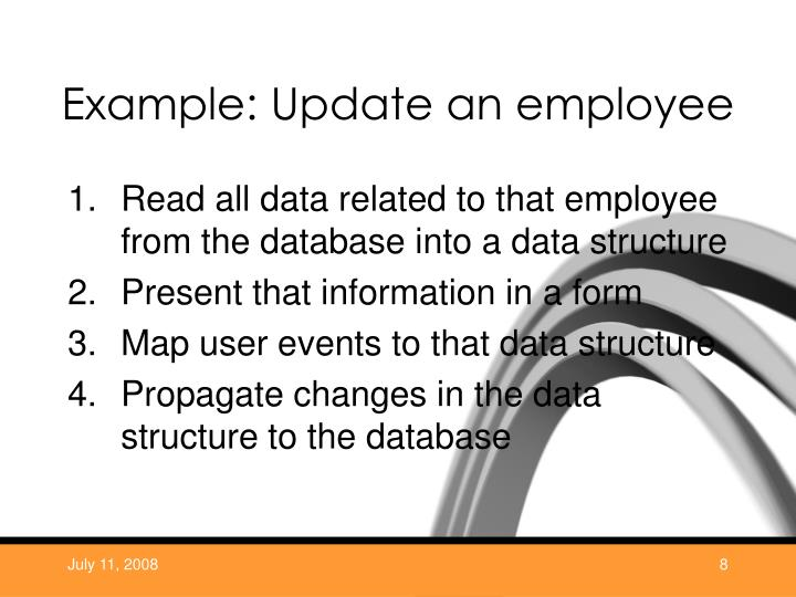 Example: Update an employee