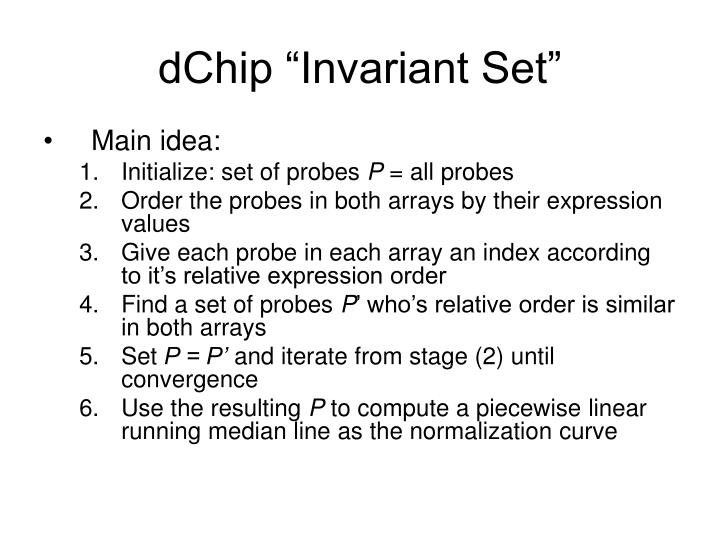 "dChip ""Invariant Set"""