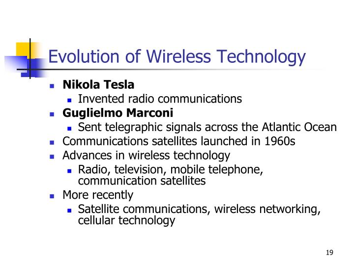 Evolution of Wireless Technology