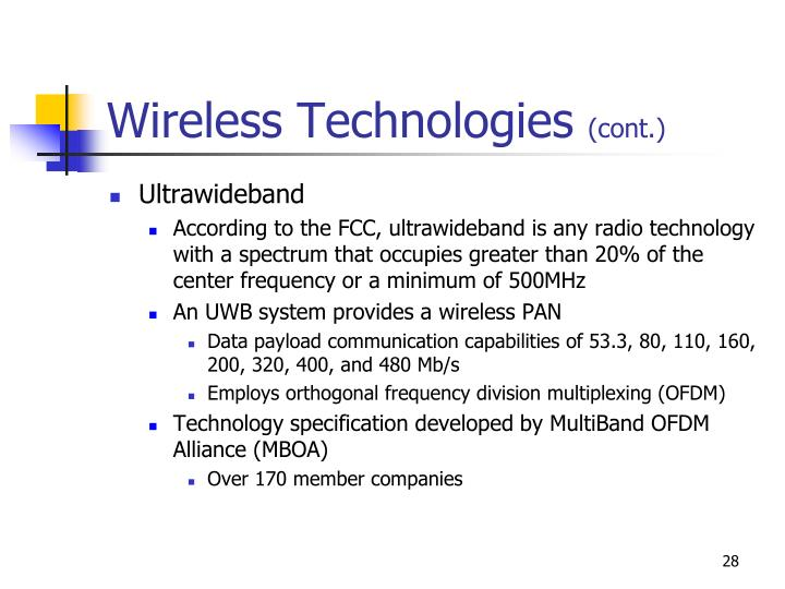 Wireless Technologies