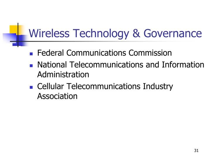 Wireless Technology & Governance