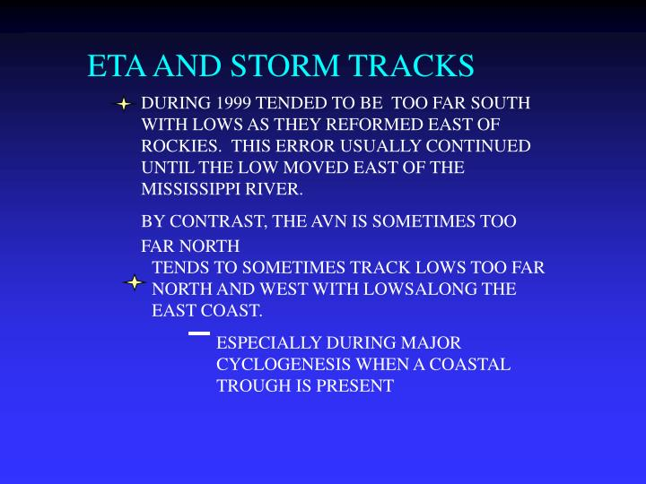ETA AND STORM TRACKS