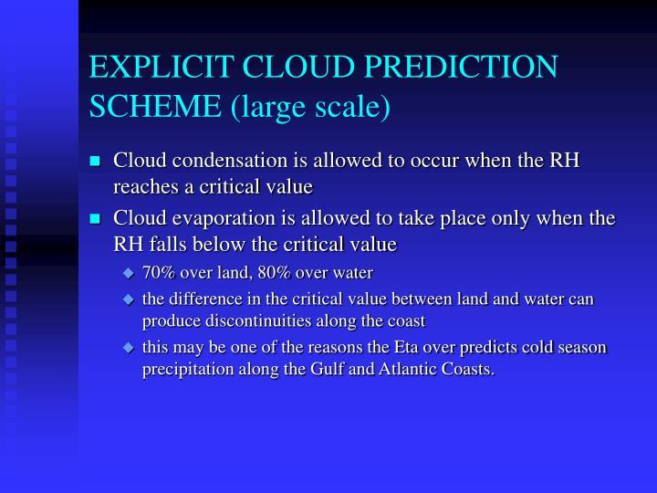 EXPLICIT CLOUD PREDICTION SCHEME (large scale)