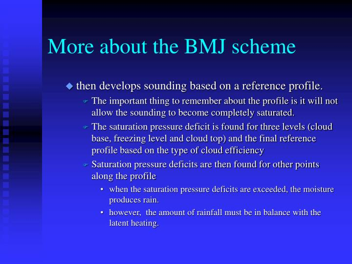 More about the BMJ scheme