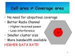 cell area coverage area