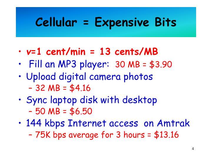 Cellular = Expensive Bits