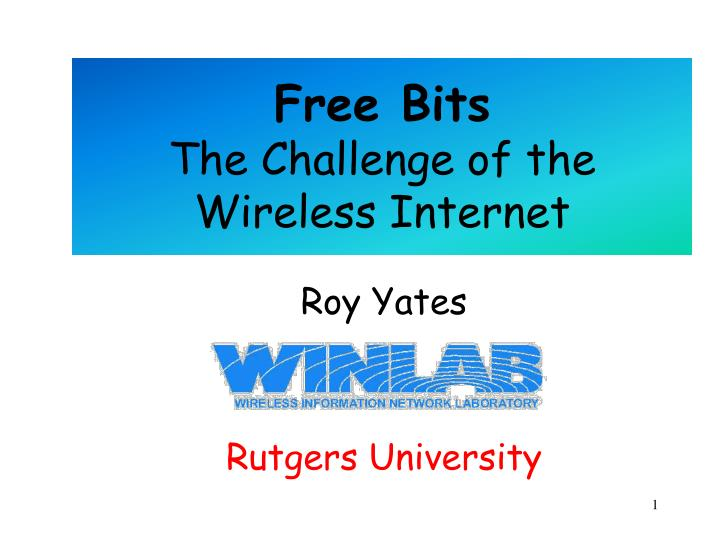 free bits the challenge of the wireless internet