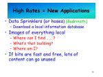 high rates new applications