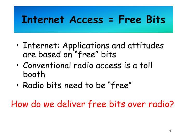 Internet Access = Free Bits