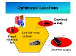 optimized locations