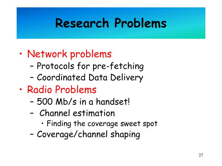 Research Problems