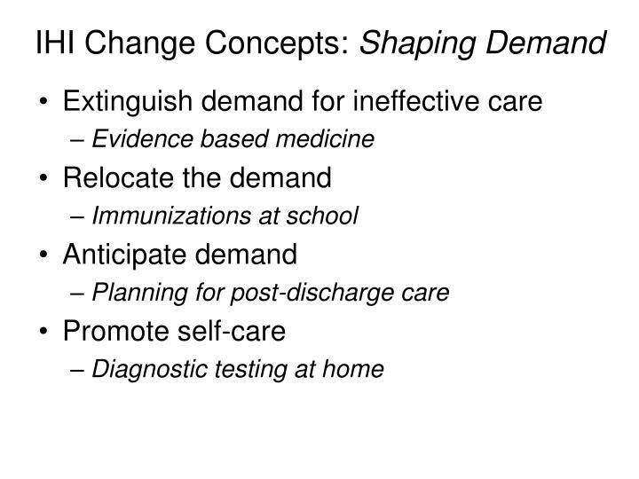 IHI Change Concepts: